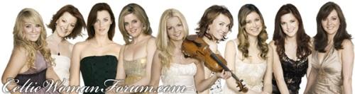 Todas as meninas que já passaram pelo Celtic Woman. ( montagem do fórum oficial)