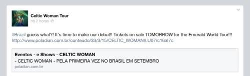 Celtic Woman no Brasil Anúncio